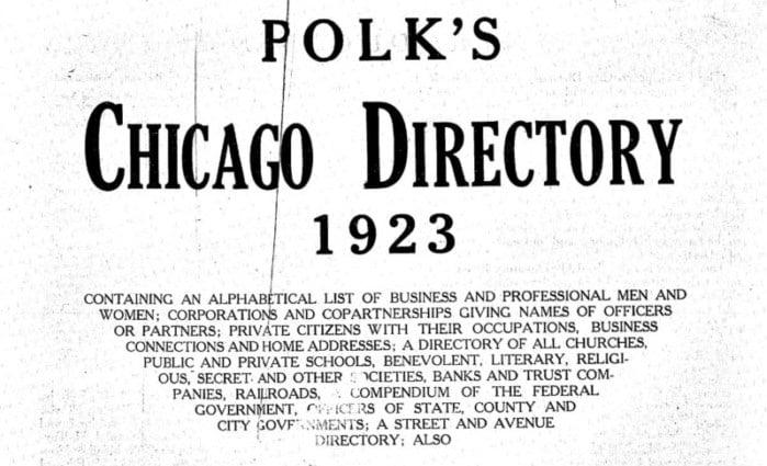 free Chicago city directories online