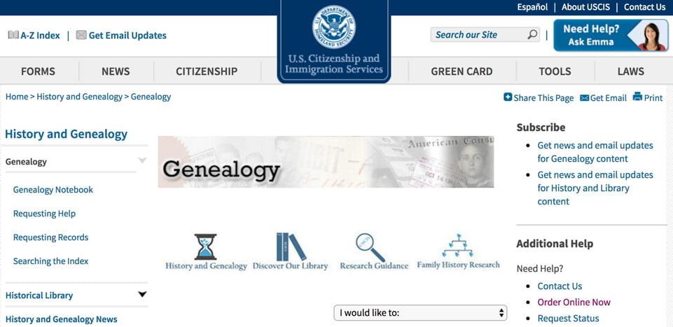 Uscis Genealogy Program Sassy Jane Genealogy