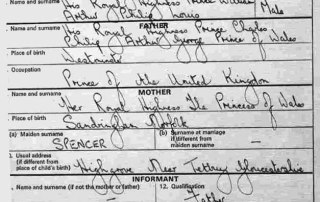 Prince William's Birth CertificatePrince William's Birth Certificate