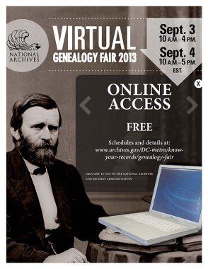 National Archives Hosts Virtual Genealogy Fair September 3 and 4 2013