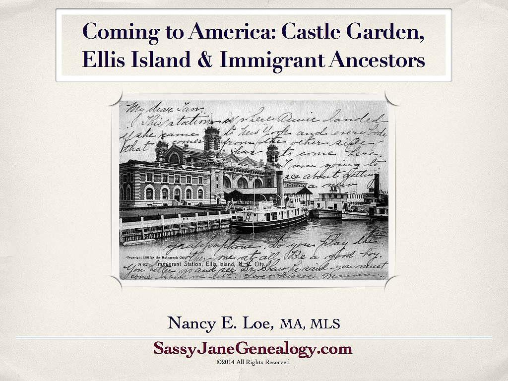 immigrant ancestors talk sassy jane genealogy