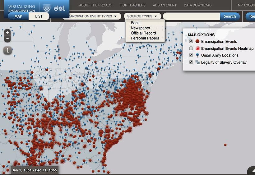 Visualizing Emancipation for Genealogists
