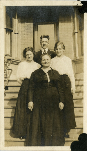 Caring for scrapbook family photographs