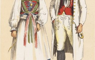 German Peasant Costumes - Wurtemberg Betzinger (Courtesy Boston Public Library)