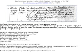 Translating German Genealogy Records