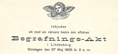 1906 Swedish Funeral Card