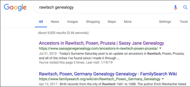 Genealogy Research Using Yippy.com