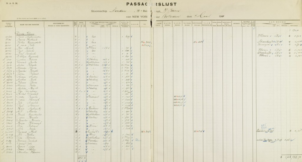 Holland-America Passenger Lists 1900-1974