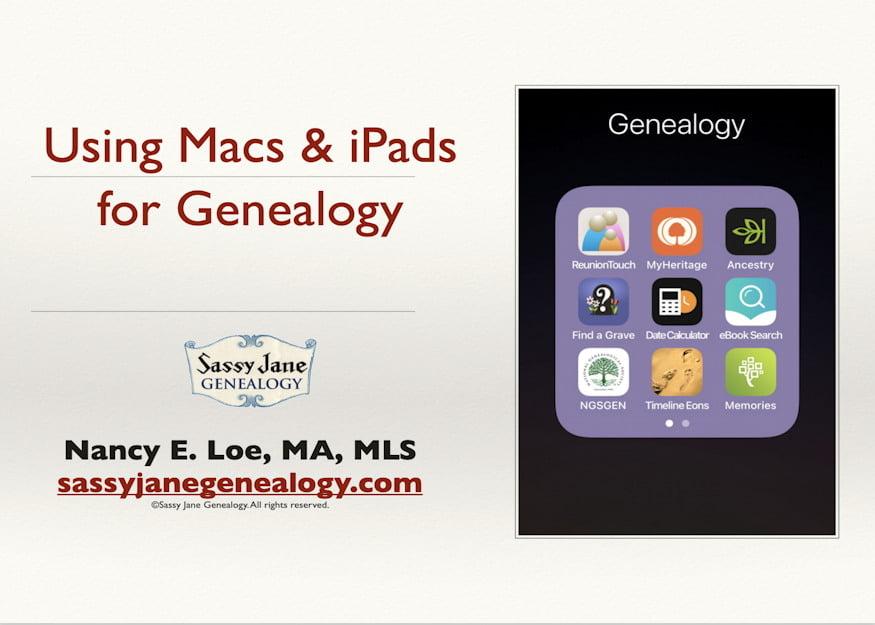 genealogy presentation using macs ipads genealogy sassy jane loe