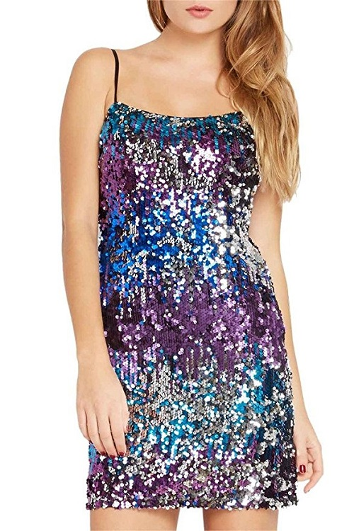 Sequin Strappy Party Dress