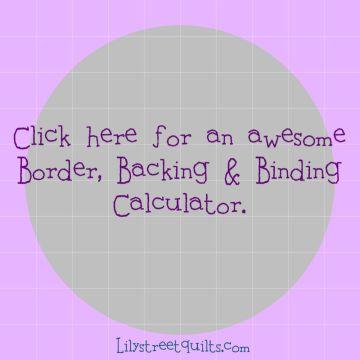 Border,binding,backing calculator
