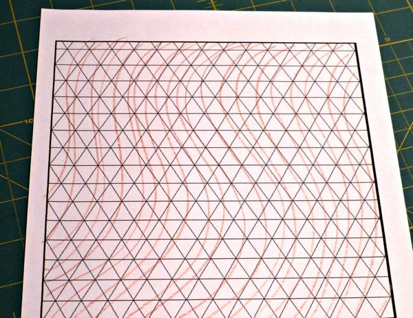 Wavy Triangle Quilt Design