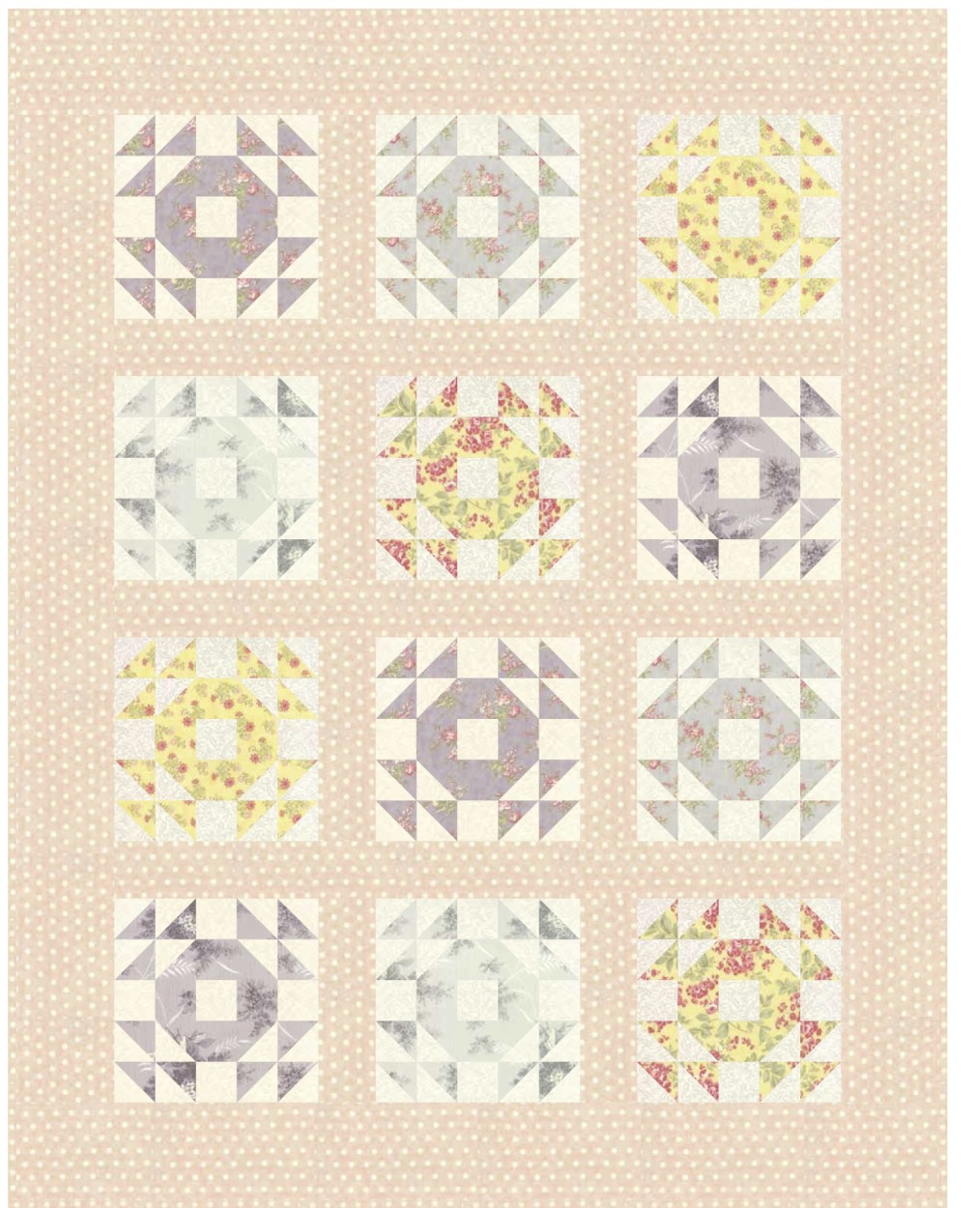 Single Wedding Ring Block The Sassy Quilter