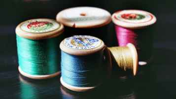 five assorted threads