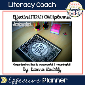 Literacy Coach Effective Planner