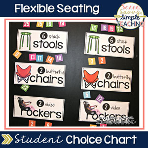 Flexible Seating Student Choice Chart