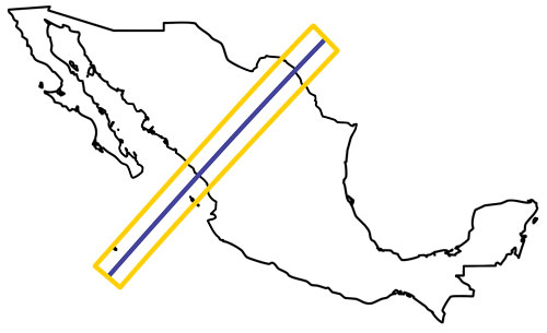 Mexico Total Eclipse Path