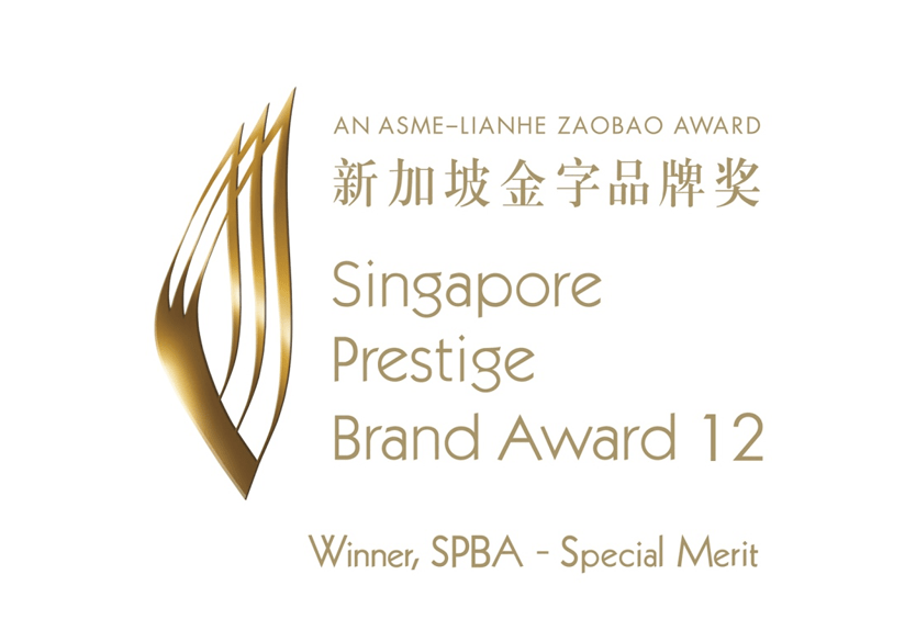 Winner of the Singapore Prestige Brand Award 12 for Special Merit