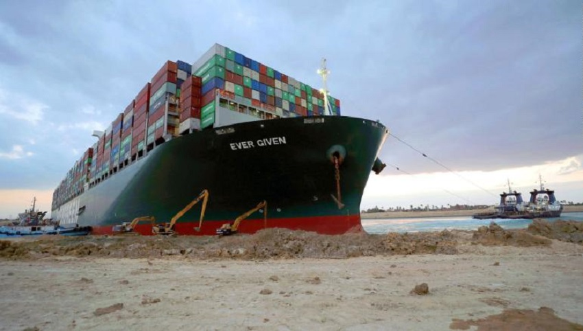 इजिप्ट सरकारले 'इभर ग्रिन' कार्गो पानीजहाज कम्पनीसँग एक अर्ब डलर क्षतिपूर्ति माग