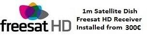 1m satellite dish installations for uk tv freesat HD in Oliva