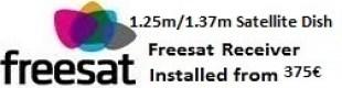 1.25m satellite dish installations for uk tv Oliva