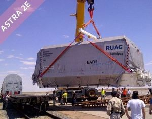 Astra 2E arrives at the launch site in Baikonur, Kazakhstan