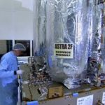 Astra 2F satellite fuel canisters