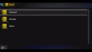 MAG 254 IPTV Server Screen