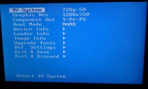 mag 254 iptv set top box bios screen