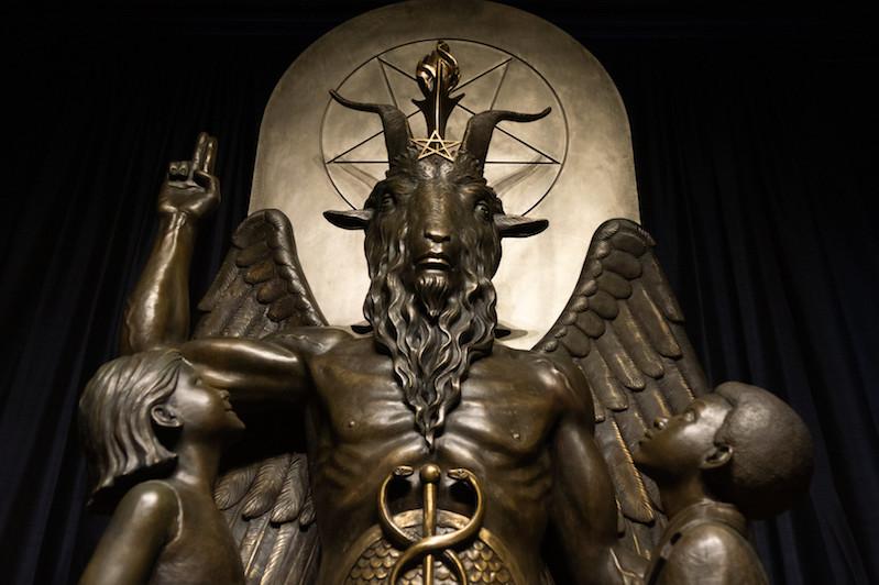 columbus confederate monuments satanism