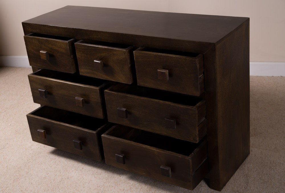 Large Mango Chest Of Drawers Solid Wood Bedroom Drawers