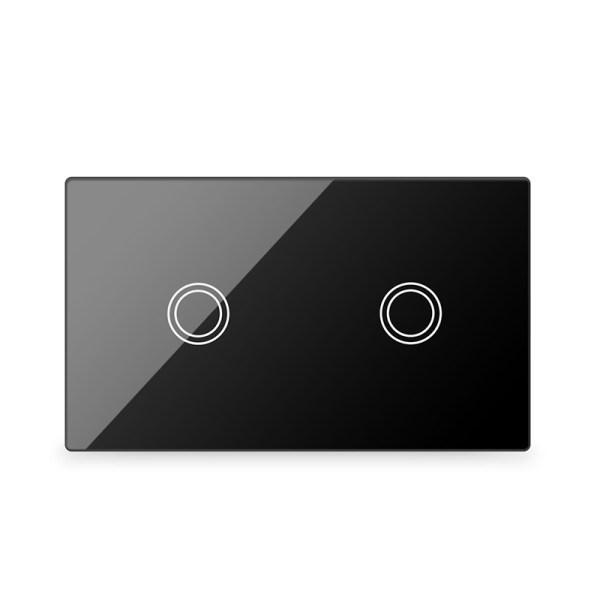 Lifesmart Smart Light Switch 2 Lane - Socket 118/120 - Black