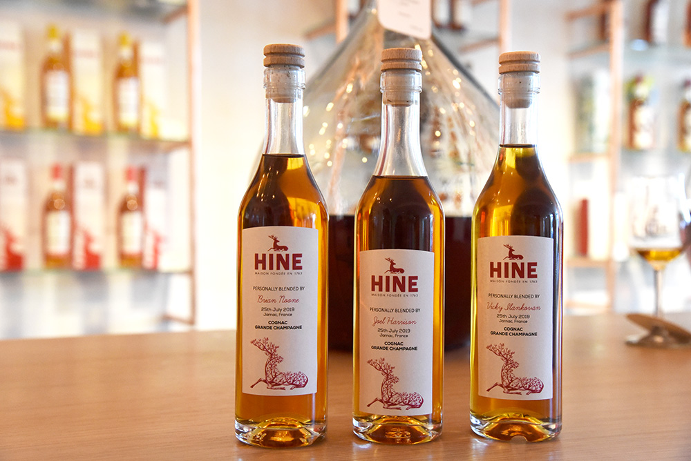 Hine Blending Session personalised bottles