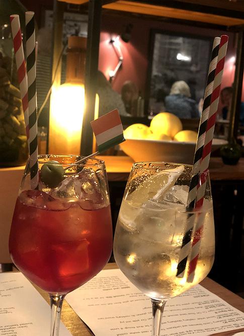 Mele e Pere cocktails