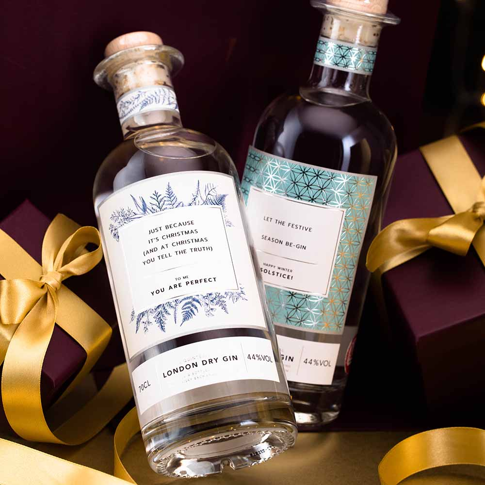 The Whisky Exchange Personalised Gin X-mas competition with Sated Online