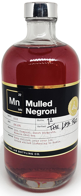 Lab 22 bottling Mulled Negroni