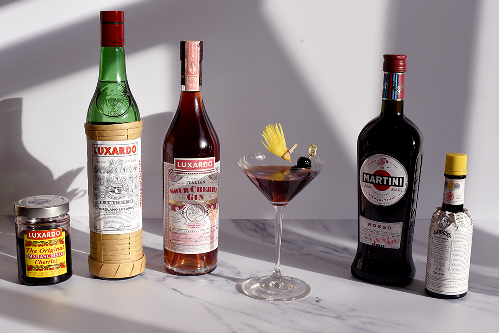 Luxardo Sour Cherry Gin Martinez ingredients smaller ©SatedOnline