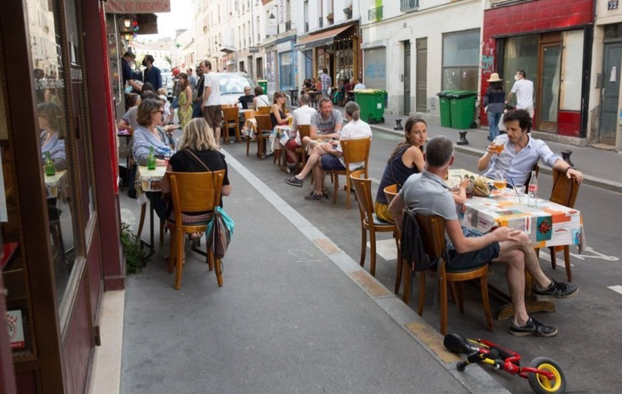 Outside seating, reopening bars and restaurants