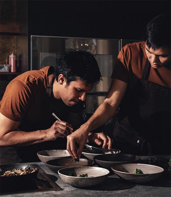 Santiago in kitchen