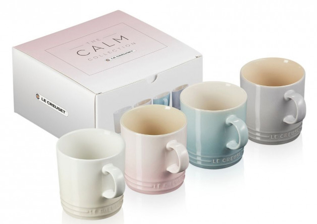 Le Creuset Stoneware Calm Collection Set of 4 Mugs