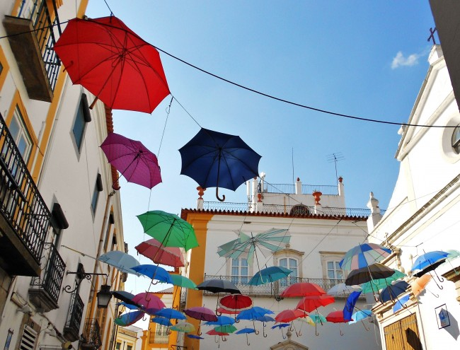 Photo Essay: Flying Umbrellas in Évora