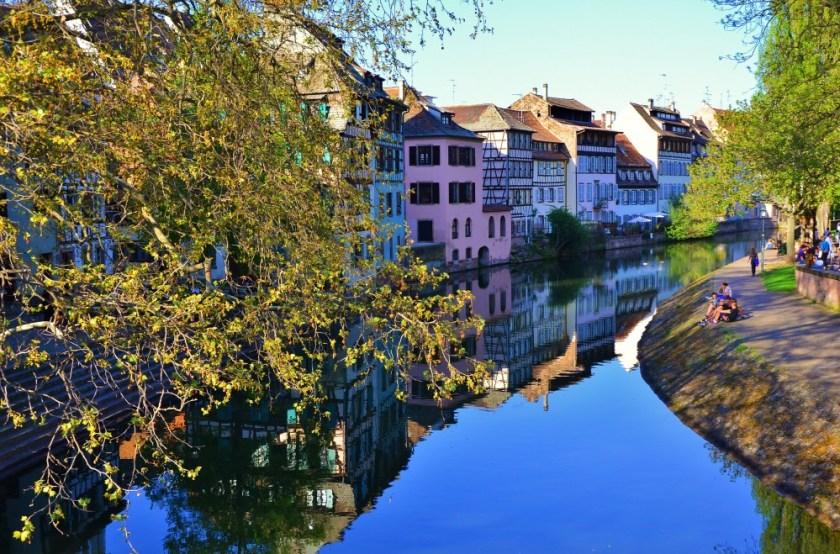 Reflections of Petite France, Strasbourg, Alsace, France