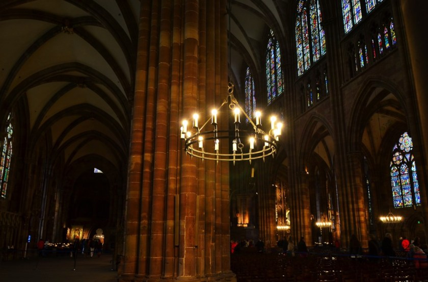 Inside the cathedral of Strasbourg, Alsace, France
