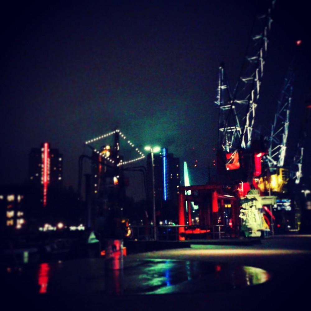Rotterdam, Holland, at night
