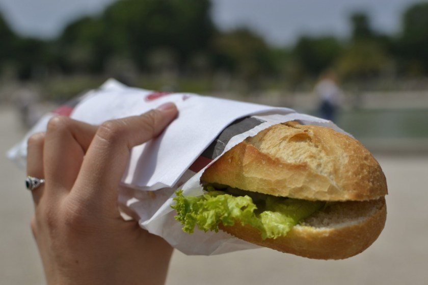 Baguette at Jardin de Luxembourg, Paris, France