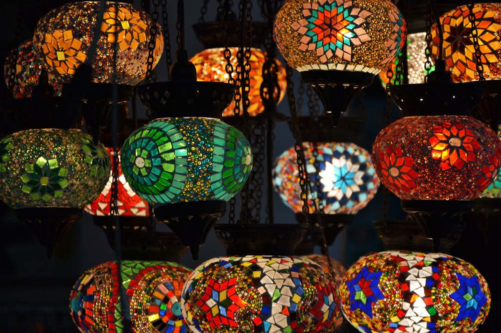 Oriental lamps at Hotel Bazar, Rotterdam, Holland