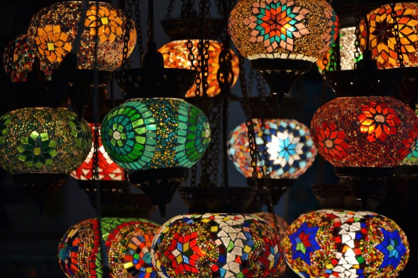 Oriental lamps at Hotel Bazar, Rotterdam, Holland