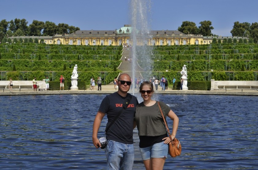 Julika and Steffen in front of Palace Sanssouci, Potsdam, Germany