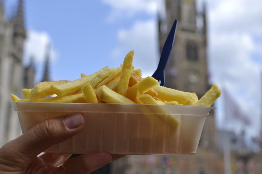 Fries in Bruges, Belgium