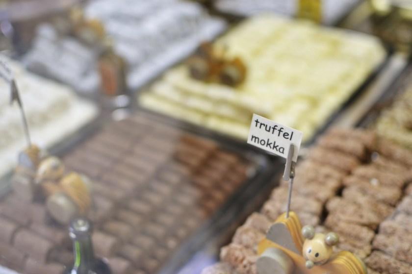 Chocolate in Bruges, Belgium